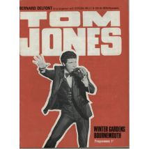 Tom Jones Winter Gardens, Bournemouth 1968 UK tour programme GIG PROGRAMME