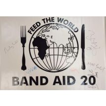 Band Aid Band Aid 20 - Feed The World - Autographed PVC Banner 2004 UK display AUTOGRAPHED BANNER