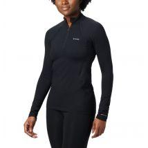 Columbia - Midweight Stretch Baselayer Long Sleeve Half Zip Shirt - Black Size L - Women