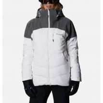 Columbia - Powder Keg II Ski Down Jacket - White, Cirrus Grey Size L - Women