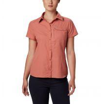 Columbia - Silver Ridge 2.0 Short Sleeve Shirt - Dark Coral Size M - Women