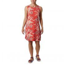 Columbia - Chill River Printed Dress - Bright Poppy Magnolia Size S - Women