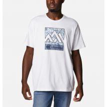 Columbia - Rapid Ridge Graphic Tee - White Triple Peak Size M - Men