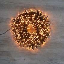 Guirlande lumineuse cluster 700 leds blanc extra chaud 14 m 8 fonctions