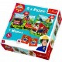 2 Puzzles + Memo - Fireman Sam