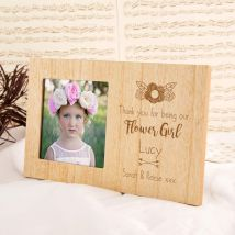 Customised Flower Girl Wooden Photo Frame