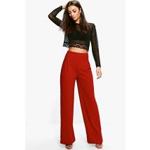 Pantalons Floral Coupe Large Tall - Rouge LieDeVin - 36, Rouge LieDeVin
