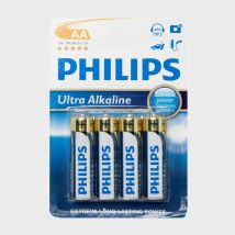 Phillips Ultra Alkaline AA Batteries 4 Pack, Multi Coloured