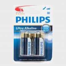Phillips Ultra Alkaline C Batteries 2 Pack, Multi