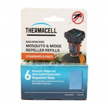 THERMACELL Backpacker Mosquito Repellent Refills Mats (6 Pack), NOCOLOUR/24HR