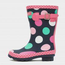 COTSWOLD Multicoloured Dotty Jnr Pull On Wellington Boots, MULTI/KIDS