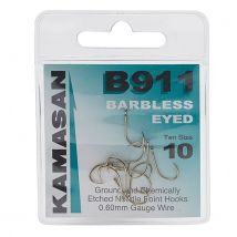 Kamasan B911 Extra Strong Eyed Fishing Hooks - Size 10 - Clear, CLEAR