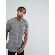 ASOS DESIGN knitted longline t-shirt in black - Black