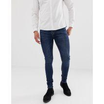 ASOS DESIGN super skinny jeans in dark wash - Blue