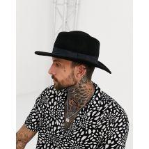 Sombrero pork pie negro con corona en forma de rombo de ASOS DESIGN