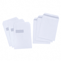 5 Star C4 90gsm White Press Seal Window Envelopes (25 Pack)