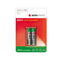 Agfaphoto 900mAh Rechargeable AAA Batteries (2 Pack)