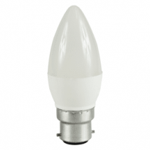 B22 Bayonet LED 5.5W Candle Bulb (40W Equivalent) 470 Lumen - Warm White Frosted