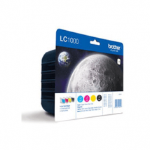 Brother LC1000 Original Black & Colour Ink Cartridge 4 Pack