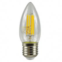 E27 Screw LED 4W Filament Candle Bulb (40W Equivalent) 470 Lumen - Warm White Clear