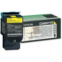 Lexmark C540H1YG Yellow High Capacity Toner Cartridge (Original)