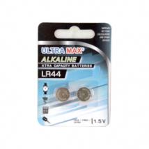 UltraMax V13GA LR44 Alkaline Batteries (2 Pack)