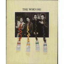 The Who The Who 1981 1981 UK tour programme TOUR PROGRAMME