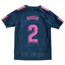 Atlético de Madrid Third Stadium Shirt 2017-18 - Kids with Godín 2 printing