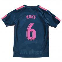 Atlético de Madrid Third Stadium Shirt 2017-18 - Kids with Koke 6 printing