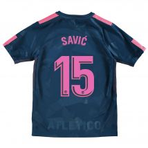 Atlético de Madrid Third Stadium Shirt 2017-18 - Kids with Savic 15 printing