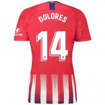 Atlético de Madrid Home Stadium Shirt 2018-19 - Womens with Dolores 14 printing