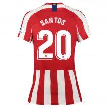 Atlético de Madrid Home Stadium Shirt 2019-20 - Womens with Santos 20 printing