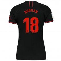 Atlético de Madrid Away Stadium Shirt 2019-20 - Womens with Duggan 18 printing