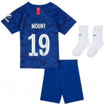 Chelsea Home Cup Stadium Kit 2019-20 - Infants with Mount 19 printing