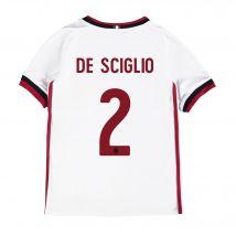 AC Milan Away Shirt 2017-18 - Kids with De Sciglio 2 printing