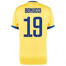Juventus Away Shirt 2017-18 with Bonucci 19 printing