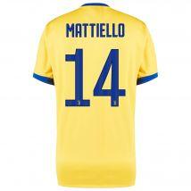 Juventus Away Shirt 2017-18 - Kids with Mattiello 14 printing