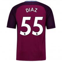 Manchester City Away Stadium Shirt 2017-18 - Kids with Diaz 55 printing