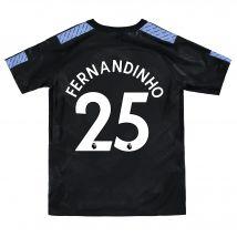 Manchester City Third Stadium Shirt 2017-18 - Kids with Fernandinho 25 printing