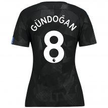 Manchester City Third Stadium Shirt 2017-18 - Womens with Gündogan 8 printing
