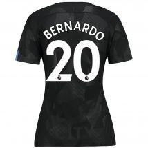 Manchester City Third Stadium Shirt 2017-18 - Womens with Bernardo 20 printing