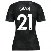 Manchester City Third Stadium Shirt 2017-18 - Womens with Silva 21 printing