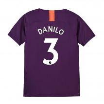 Manchester City Third Stadium Shirt 2018-19 - Kids with Danilo 3 printing
