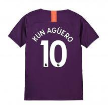 Manchester City Third Stadium Shirt 2018-19 - Kids with Kun Agüero  10 printing