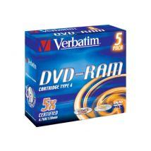 Verbatim 3x DVD-RAM 4.7GB 5 Pack Slim Case