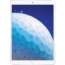 """Apple iPad Air 3 10.5"""" (2019) (64GB Silver) at £100.00 on Tablet Plan Standard (24 Month(s) contract) with 5000MB of 4G data. £31.00 a month."""