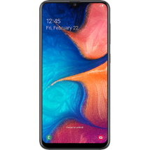 Samsung Galaxy A20e (32GB Black) at £99.00 on Pay As You Go 1. Extras: Top-up required: £20.