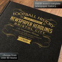 Personalised Bristol City Football Book