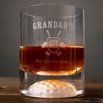 Personalised Golf Whisky Tumbler - Grandad's 19th Hole