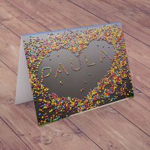 Personalised Card - Giant Candy Heart